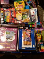 Some of the items donated to Literacy Partners by guests