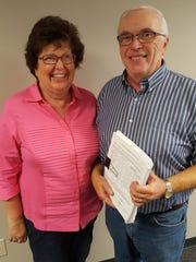 Barb and Sam Morgan pose for a photo at the Wausau