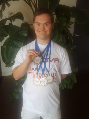 El Pasoan Andres Hernandez, 24, won a gold medal and three silver medals at the 2016 Trisome Games in in Florence, Italy on July 15-22, for athletes with Down syndrome. Thirty-six countries participated, including a USA team. Hernandez was the only athlete from Texas to participate in the games.