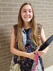 Wausau West sophomore Corrita DeValk poses for a photo in the school hallway on Sept. 9, 2016. She's a member of FFA and excited about the school's new greenhouse.