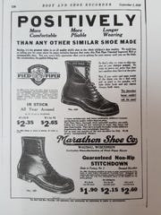 A 1922 Marathon Shoe Co. ad from a National Register