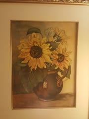 An avid artist, George Rother of Bridgewater, who turns 106 Feb. 16., painted this sunflower watercolor.