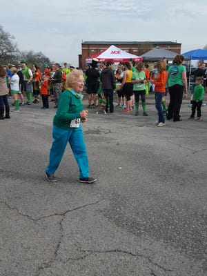 Helen Chambers, then 86, finished the 2016 Gallatin Shamrock Run.