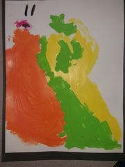 A piece of art created by a student in Keri Voegel's inclusion preschool classroom.