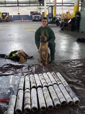 Police seized about $1.2 million worth of meth from a traffic stop in Williamson County. The meth was hidden in industrial shrink wrap rolls.