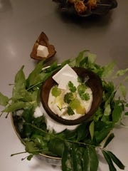 At Chicago's Alinea, a side of young sprouted coconut