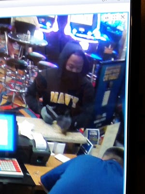 The alleged armed robbery suspect fired a shot inside a Reno casino Wednesday, July 12, 2017.