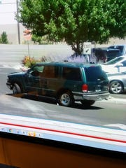 Reno police say this is the green Ford Explorer that the suspects escaped in.