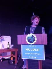 "Jeffrey Dumond portraying Gov. Mulder in ""Return to"