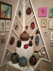 Jewelry, pottery, paintings and glassworks are among