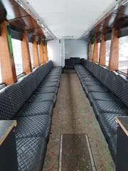 A former Lansingparty.com party bus is up for bid by the Clinton County Sheriff's Office.