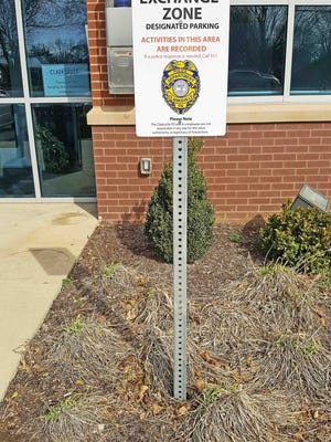 """Exchange Zone"" at Clarksville Police Department's Cunningham precinct."