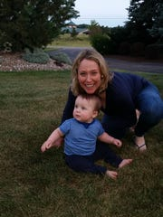 LPGA star Cristie Kerr poses with her son, Mason Kerr Stevens. Mason was born on Dec. 8.