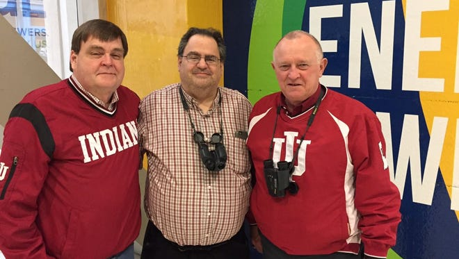 George Snow (left), Barry Gellers (middle) and Rob Shelby haven't missed a Big Ten men's basketball tournament.