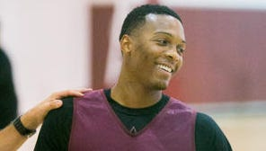 Former Arizona State point guard Jahii Carson had one point and three assists in a work-out scrimmage.