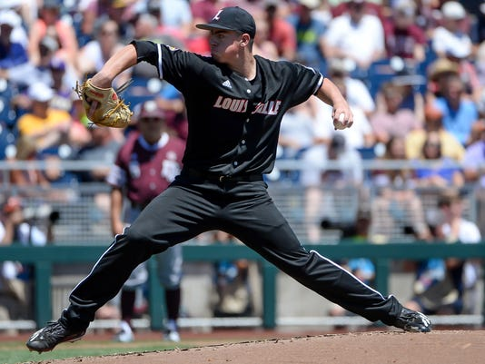 NCAA Baseball: College World Series-Louisville vs Texas A&M