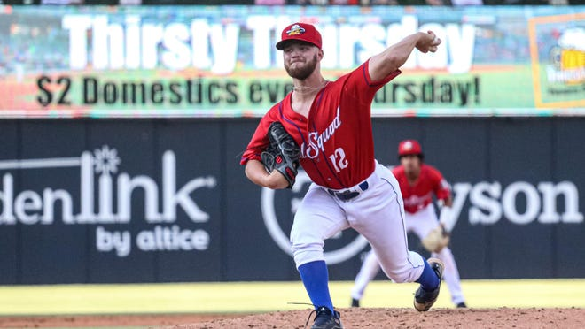 Amarillo Sod Squad pitcher Jack Stroud, a Tascosa graduate, delivers a pitch in Wednesday's 1-0 win over the San Antonio Flying Chanclas at Hodgetown. Stroud was one of five pitchers who combined for a two-hit shutout.
