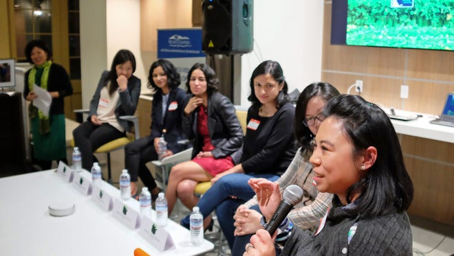 Panelist Erica Riel-Carden at the debut on Thursday, February 16th of the From Farms to Incubators: Stories of Minority Women Entrepreneurs in Agtech project at the Western Growers Center for Innovation and Technology in Salinas.