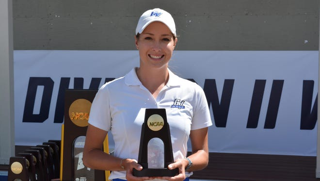NCAA Div. II trophy in hand, Gabrielle Shipley tried to qualify for the U.S. Women's Open. This summer she will try to qualify for the U.S. Amateur and will play in the Michigan Open. Then it's on to pro qualifying school.