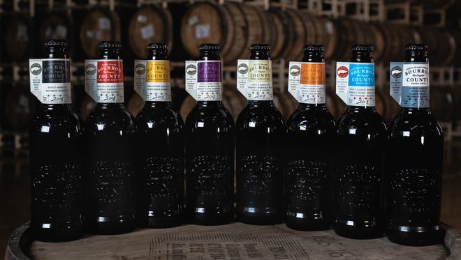 Goose Island's 2018 Bourbon County Brand stout beers will arrive in stores nationwide on Black Friday, November 23rd.