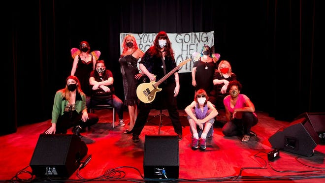 Nikki Wonder, center, surrounded by some of the women who will perform at the second in-person edition of She Burns Bright at Natalie's in Grandview on Friday, July 3.