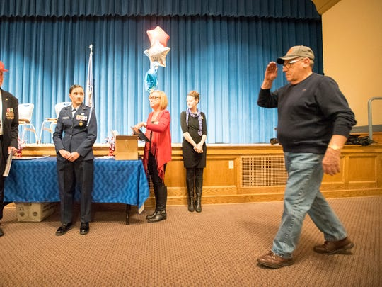 State Representative Frank Ryan organized a Welcome Home Celebration honoring Vietnam War Veterans Nov. 10 at Palmyra Middle School Auditorium. Ryan said his hope was to recognize, thank and honor U.S. Military veterans who served during the Vietnam War.
