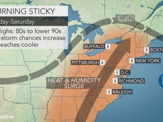 Independence Day weekend should be hot and sunny in