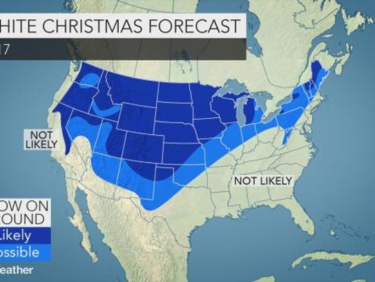 Projection for a white Christmas