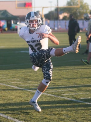 Pinnacle  senior kicker/punter Jake Veach accepts offer from Northern Arizona to play football