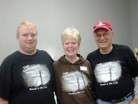 This is Donnie Wagoner (left) with Gathering Tree co-founders,