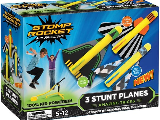 Stomp Rockets give kids a little exercise and a lot of fun.