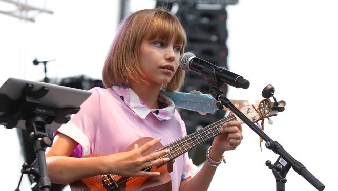 Grace VanderWaal performs for fans at the Ramapo Summer Concert Series at Palisades Credit Union Park in Pomona on Friday, July 08, 2016.
