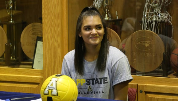 Amya Giger signed with Appalachian State last week