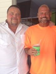Former Moeller baseball standout Len Matuszek (left)