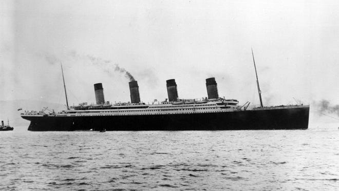 The Titanic leaves on her maiden voyage in this1912 file photo.