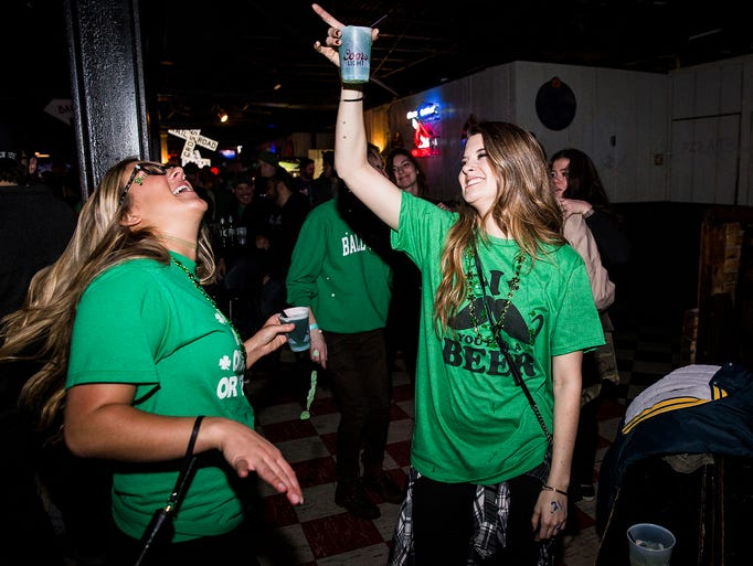 Locals enjoyed live music and green beer at Brothers