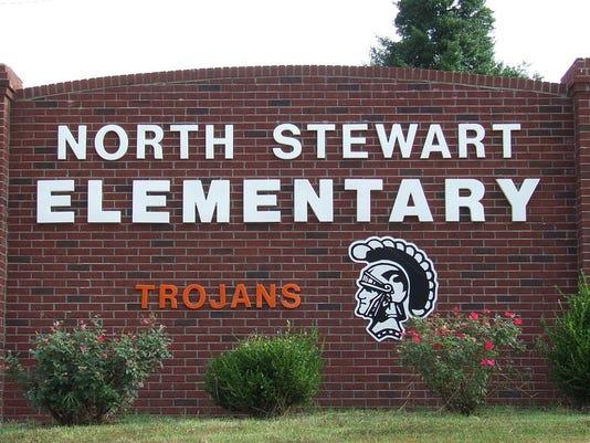 North Stewart Elementary School sign
