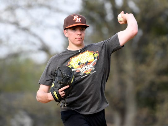 Pascack Hills pitcher Ryan Ramsey. Photographed in