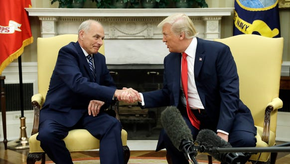 President Trump and new Chief of Staff John Kelly.