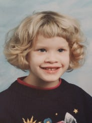Ashlye Schwartz in kindergarten.