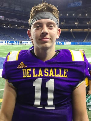 De La Salle quarterback Luke Pfromm threw for 320 yards in a 35-14 victory over Catholic Central.