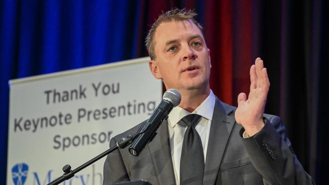 Nathan Bryant, president and CEO of the Rockford Area Economic Development Council, speaks Nov. 5, 2019, at the organization's annual meeting. RAEDC on Tuesday, Aug. 18, 2020, said that Bryant no longer holds the position.