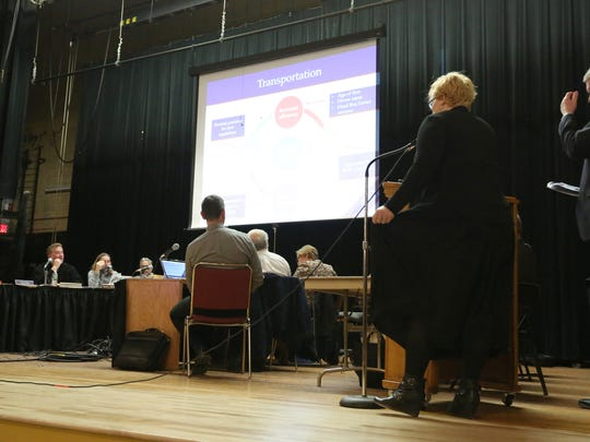 A Wappingers Central School District board meeting at Wappingers Junior High School March 13, 2017.