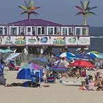 Another busy Saturday at Jenkinson's beach.