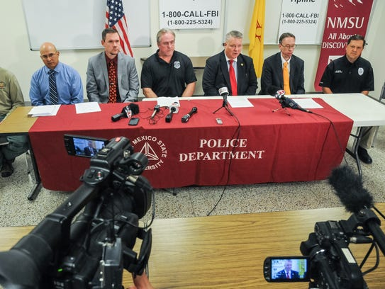 Representatives from multiple law enforcement agencies
