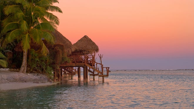 On Motu Anita, the only private island resort in the Cook Islands, each room is a bungalow.