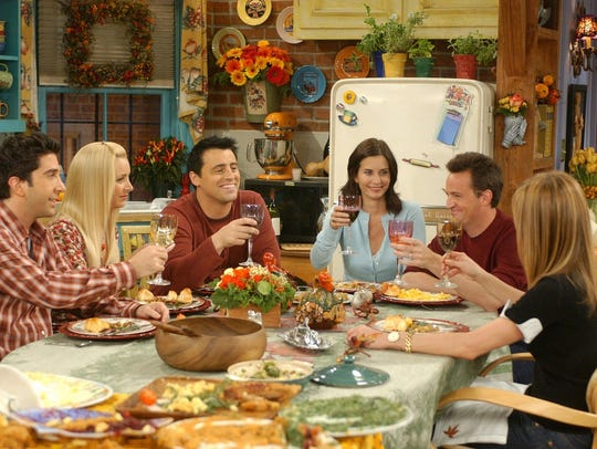 "While NBC's ""Friends"" often served up special Thanksgiving-themed"