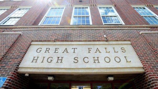Great Falls High School entrance.