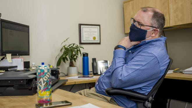 Peoria County Election Commission executive director Tom Bride is shown earlier this year in Peoria in this file photo.