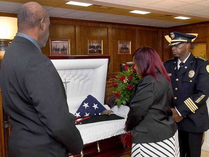 Mayor John Joseph lies in state Friday afternoon at